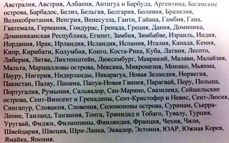 список стран закрытых для посещения