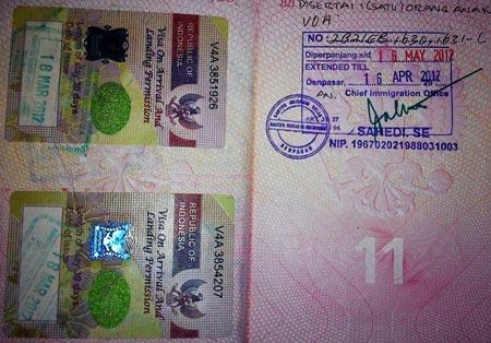 индонезийская виза по прилету