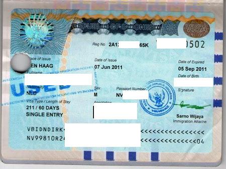 социальная виза в Индонезии