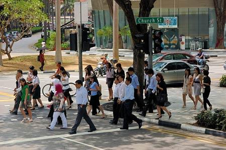 улица в Сингапуре