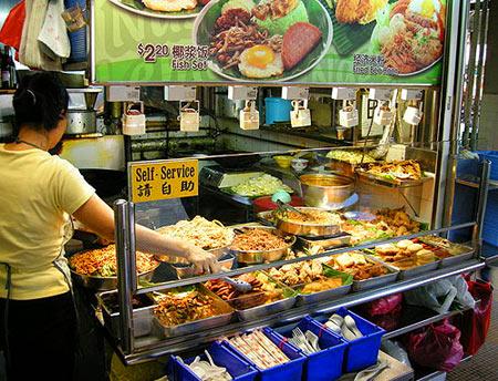 лавка быстрого питания в Сингапуре