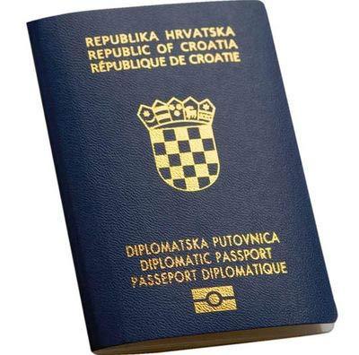 хорватский паспорт