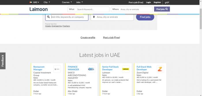 сайт поиска работы в ОАЭ