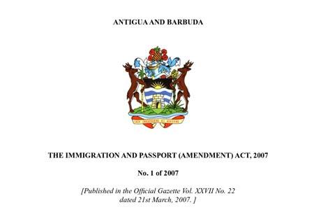 официальный бланк Антигуа и Барбуда