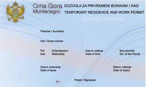 ВНЖ в Черногории