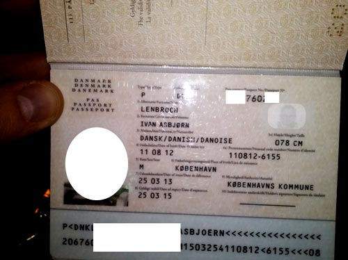паспорт гражданина дании