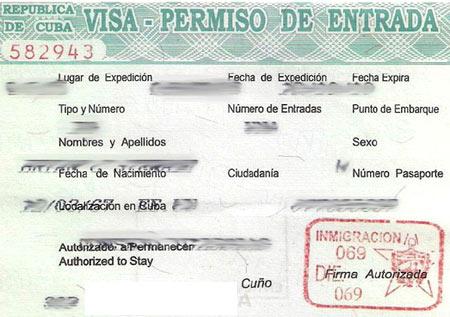 кубинская бизнес виза