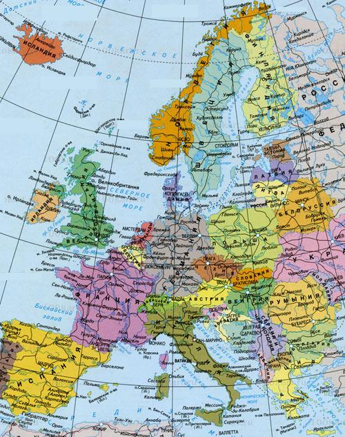 европейская карта