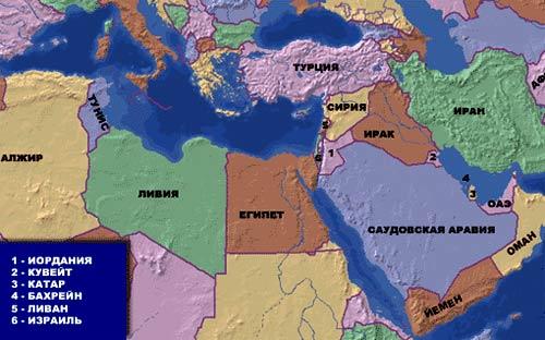 катар на карте востока
