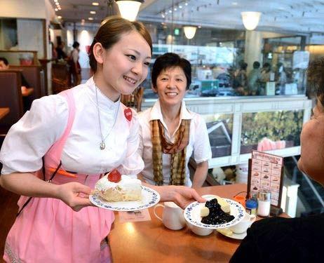 японская официантка
