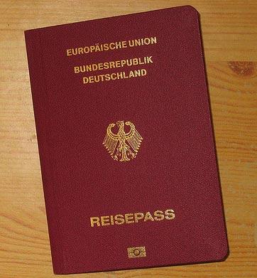 паспорт германии образец
