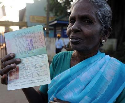 шриланкийский паспорт