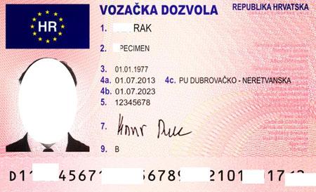 водительские права в Хорватии