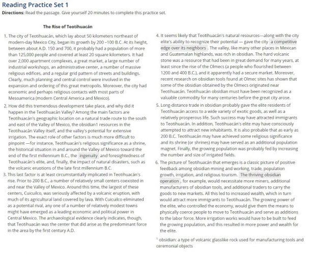 Текст для Reading на экзамене TOEFL