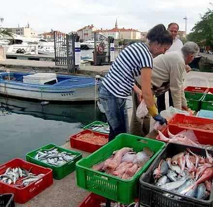 рыбный рынок в Черногории