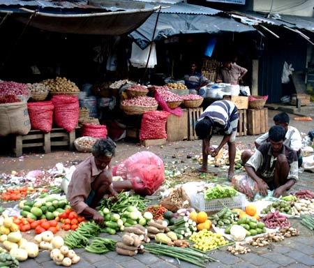 рынок на Шри-Ланке