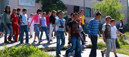 албанские школьники