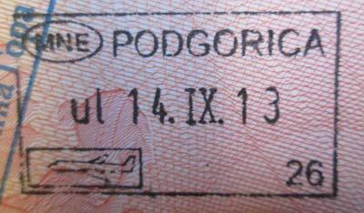 виза в Черногорию