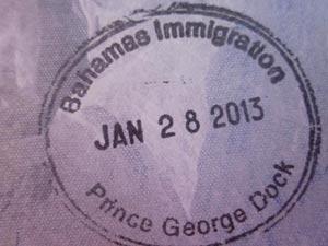 штамп в паспорте при посещении Багамских островов