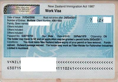 новозеландская виза