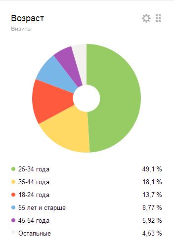 возраст аудитории сайта VisaSam.ru