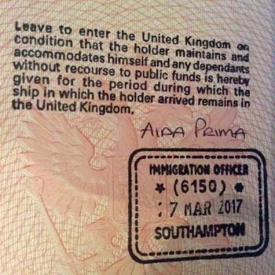 Транзитный штамп в паспорте
