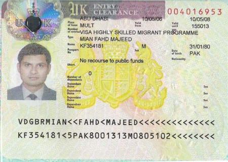 Так выглядит виза по программе HSMP