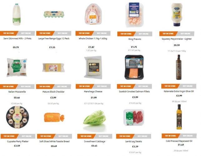 Цены на продукты в Англии