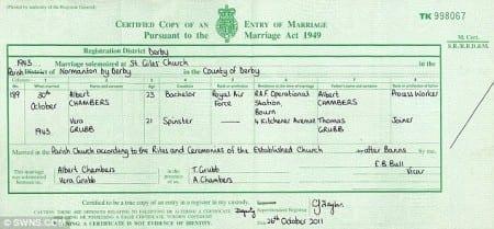 Свидетельство о заключении брака в Великобритании