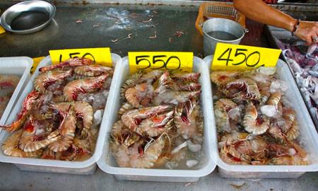 цены на морепродукты в Тайланде