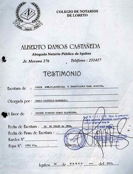 Escritura Publika в Испании