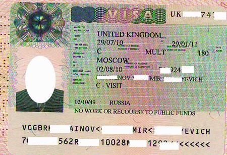 английская гостевая виза