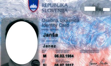 словенское удостоверение личности