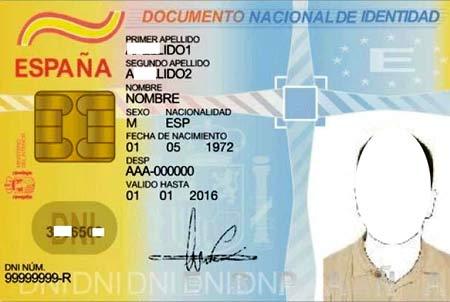 испанская идентификационная карточка