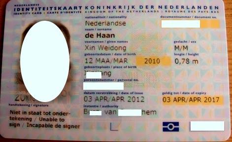 голландское удостоверение личности