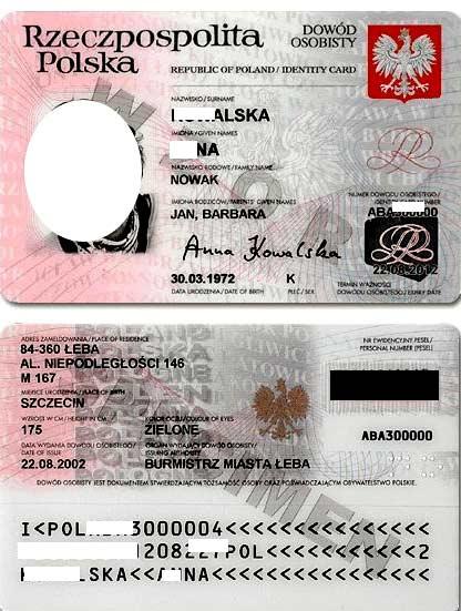 польское удостоверение личности