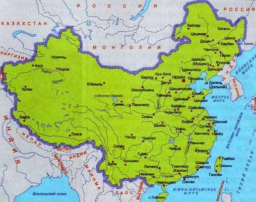 китайская карта
