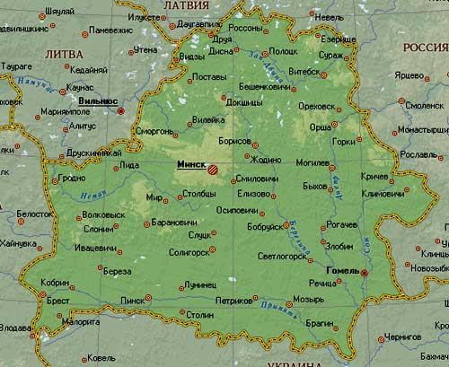 белорусская карта