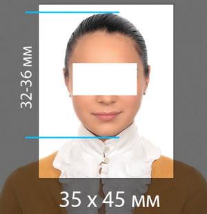 фотография на визу в китай