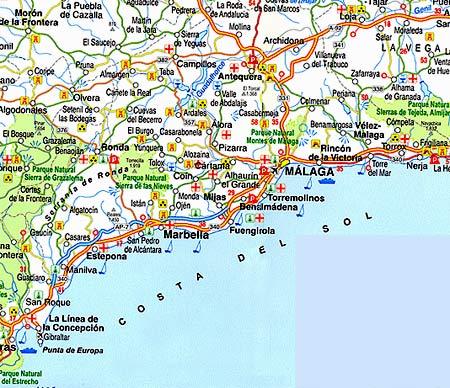 карта Коста Дель Соль