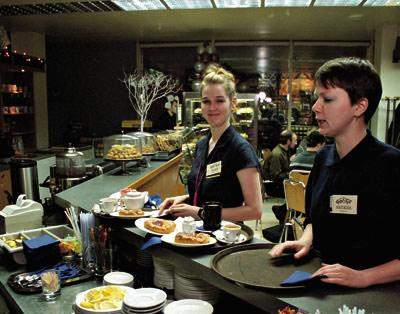 официанты в Германии