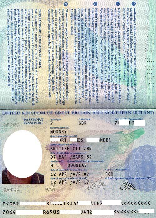 английский паспорт