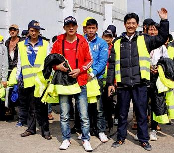 вьетнамские рабочие