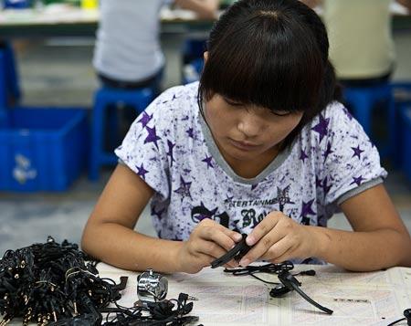 низкооплачиваемая работа в Китае