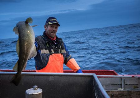 рыбак в Норвегии