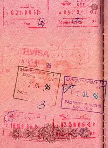 Финский штамп в паспорте