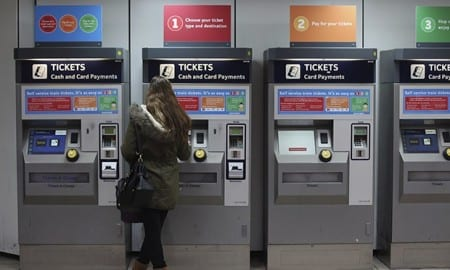 Автоматы по продаже билетов в английском метро