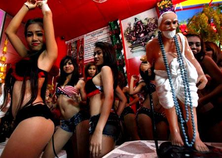 танцовщицы в Китае