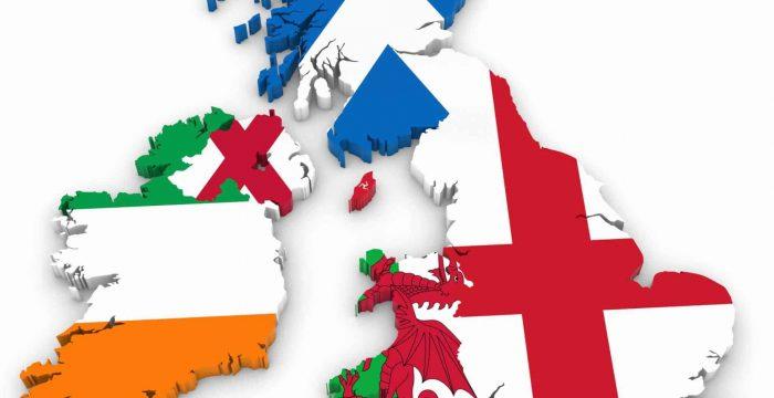 Великобритания на карте