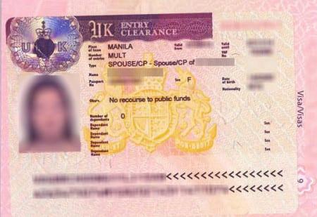Английская супружеская виза